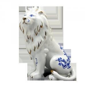ZSOLNAY 10047/8531 kisoroszlán kék díszítéssel