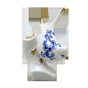 ZSOLNAY 9641/8531 billenő cinke kék díszítéssel