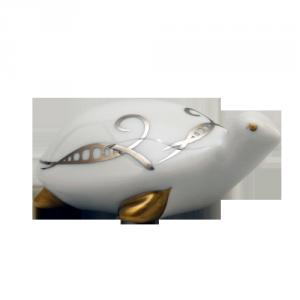 ZSOLNAY 9644/8530 ékszerteknős platina díszítéssel