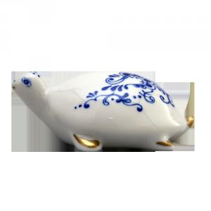 ZSOLNAY 9644/8531 ékszerteknős kék díszítéssel