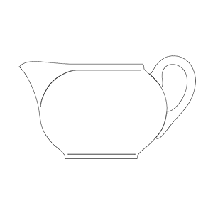ZSOLNAY MESSZESÉG TEA TEJKANNA